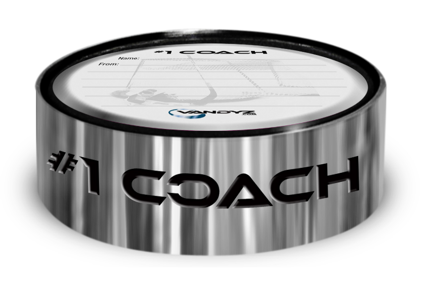"""#1 COACH"" Hockey Puck Ring"