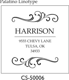 Designer Address Stamp - CS-50006PI