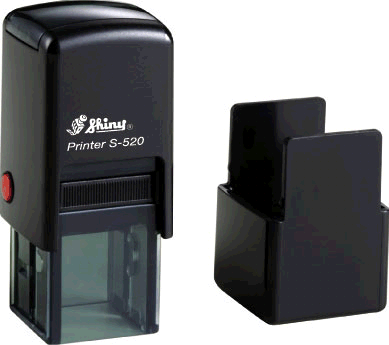 "Shiny S-520 Self-Inking Stamp (3/4"" x 3/4"")"