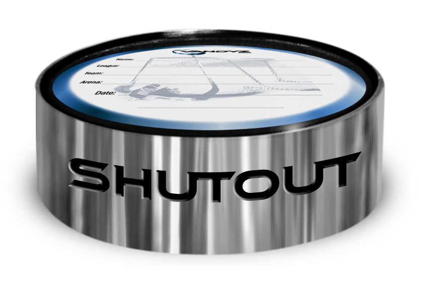 """SHUTOUT"" Hockey Puck Ring"